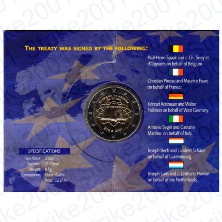 Irlanda - 2€ Comm. 2007 FDC Trattato Roma FOLDER