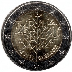 Estonia - 2€ Comm. 2020 FDC 100° Trattato Tartu