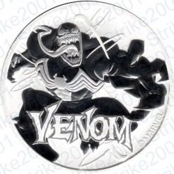 Tuvalu Polinesia - 1 Oncia Argento 2020 FDC Marvel Venom