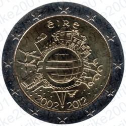 Irlanda - 2€ Comm. 2012 FDC 10° Anniversario Euro