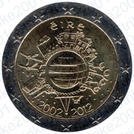 Irlanda - 2€ Comm. 2012 10° Anniversario Euro FDC