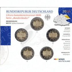 Germania - 2€ Comm. 5 Zecche 2020 FOLDER FDC Potsdam