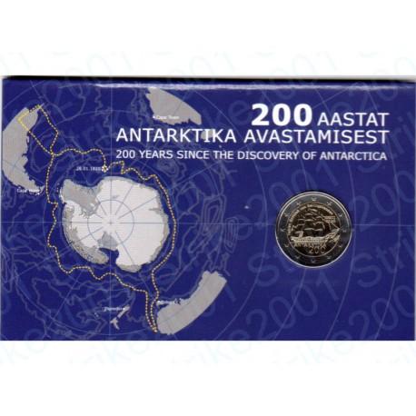 Estonia - 2€ Comm. 2020 FDC 200° Scoperta Antrtide