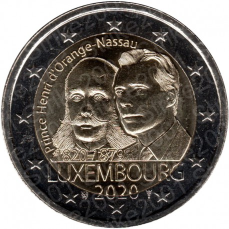 Lussemburgo - 2€ Comm. 2020 FDC Henri Orange Nassau