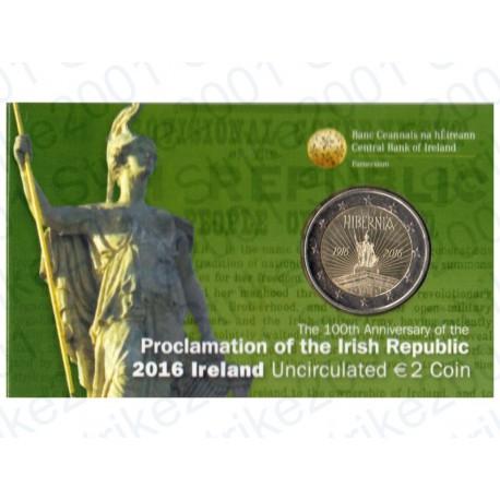 Irlanda - 2€ Commemorativo 2016 Rivolta di Pasqua FOLDER