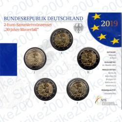 Germania - 2€ Comm. 5 Zecche 2019 FOLDER FDC Caduta Muro Berlino