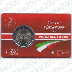 Italia - 2€ Comm. 2020 FDC Vigili del Fuoco in Folder