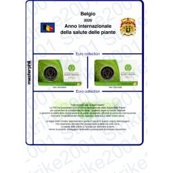 Kit Foglio Belgio 2 Euro Comm. in folder