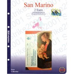 Kit Foglio San Marino 2 Euro Comm. in folder