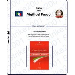 Kit Foglio Italia 2 Euro Comm. in folder