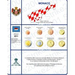 Kit Foglio Monaco serie 8 monete