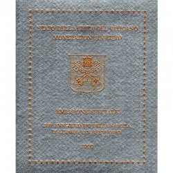 Vaticano - Divisionale Ufficiale 2020 FDC con 5 Euro Bimetallico