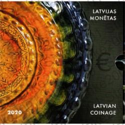 Lettonia - Divisionale Ufficiale 2020 FDC 9 Valori