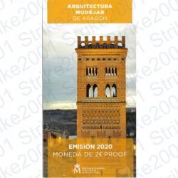 Spagna - 2€ Comm. 2020 FS Aragona in Folder