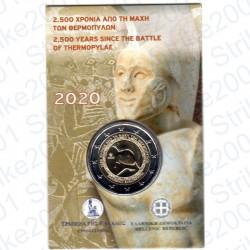 Grecia - 2€ Comm. 2020 FDC Battaglia Termopili in Folder