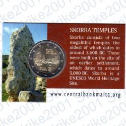 Malta - 2€ Comm. 2020 Templi Skorba Cornucopia in Folder