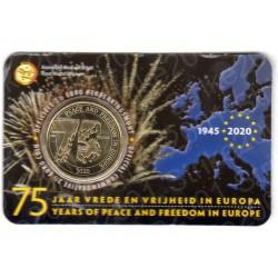 Belgio - 2,5€ 2020 FDC Pace e Libertà in Folder(Olanda)