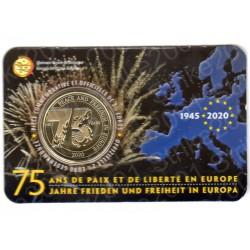 Belgio - 2,5€ 2020 FDC Pace e Libertà in Folder(Francia)