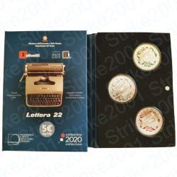 Italia - 5€ 2020 FDC Trittico Olivetti Verde Bianca Rossa