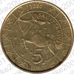 San Marino - 5€ 2020 FDC Zodiaco Sagittario - Sagittarius
