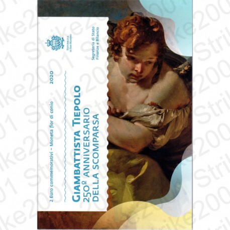 San Marino - 2€ Comm. 2020 FDC Tiepolo in Folder