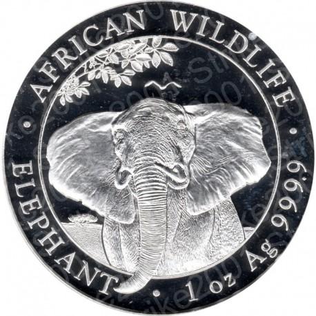 Somalia - 1 Oncia Argento 2021 FDC Elefante