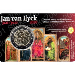 Belgio - 2€ Comm. 2020 FDC Jan van Eyck (Olanda) in Folder