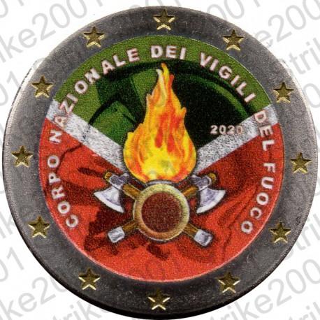 Italia - 2€ Comm. 2020 FDC Vigili del Fuoco Colorato
