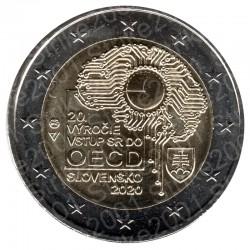 Slovacchia - 2€ Comm. 2020 FDC 20° Anniversario Ocse