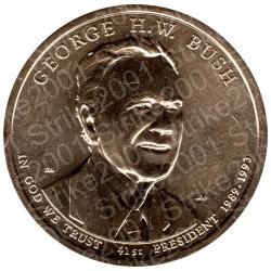 America - 1 Dollaro G.H.W. Bush (Zecca P)  2020