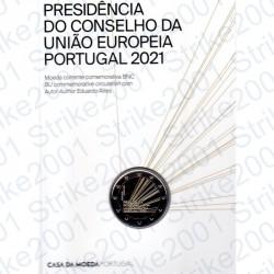 Portogallo - 2€ Comm. 2021 FDC Presidenza Unione Europea in Folder