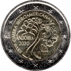 Andorra - 2€ Comm. 2020 FDC Summit Ibero Americano