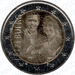 Lussemburgo - 2€ Comm. 2020 FDC Principe Carlo ologramma