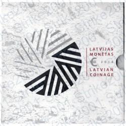 Lettonia - Divisionale Ufficiale 2015 FDC 9 monete