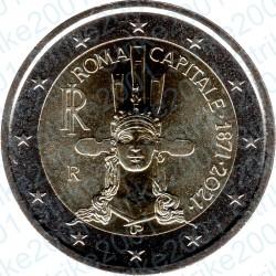 Italia - 2€ Comm. 2021 FDC Roma Capitale