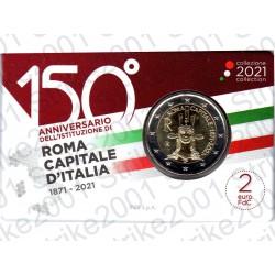 Italia - 2€ Comm. 2021 FDC Roma Capitale in Folder