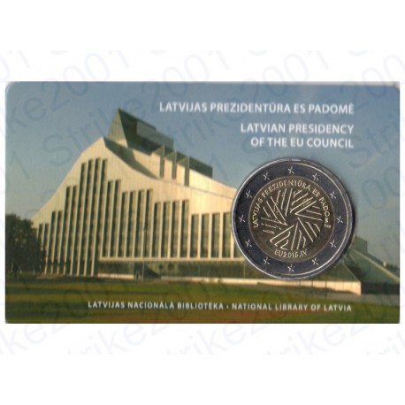 Lettonia - 2€ Comm. 2015 FOLDER Presidenza FDC