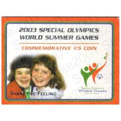 Irlanda - 5€ Comm. 2003 Olimpiadi FOLDER FDC