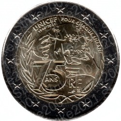 Francia - 2€ Comm. 2021 FDC 75° Unicef