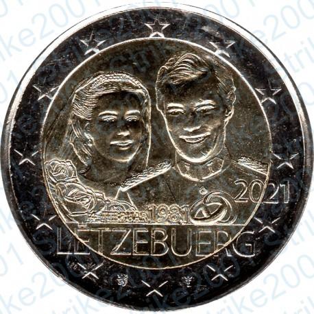 Lussemburgo - 2€ Comm. 2021 FDC Granduca Henri foto in rilievo