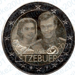 Lussemburgo - 2€ Comm. 2021 FDC Granduca Henri ologramma