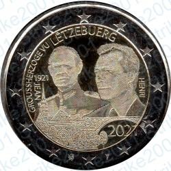 Lussemburgo - 2€ Comm. 2021 FDC Nascita Granduca Jean ologramma