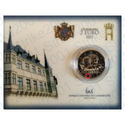 Lussemburgo - 2€ Comm. 2021 FDC Nozze Granduca Henri in Folder