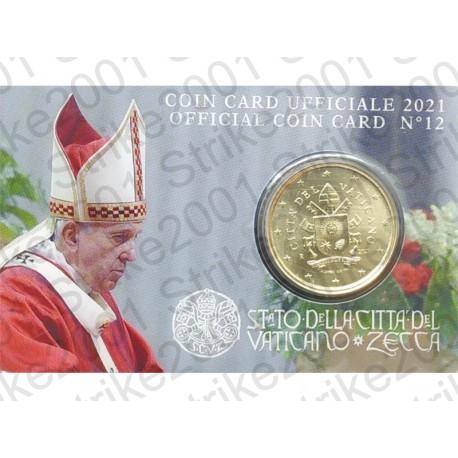 Vaticano - Coin Card 2021 FDC nr. 12