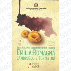 Italia - 5€ Comm. 2021 FDC Lambrusco e Tortellini