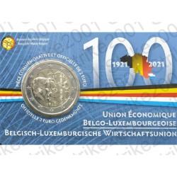 Belgio - 2€ Comm. 2021 FDC Unione Economica (Francia) in Folder