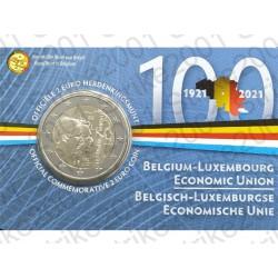 Belgio - 2€ Comm. 2021 FDC Unione Economica (Olanda) in Folder