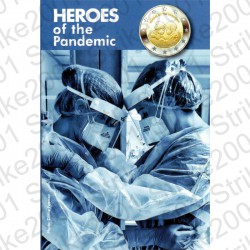 Malta - 2€ Comm. 2021 Eroi della Pandemia in Folder