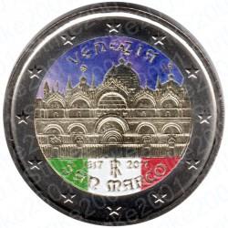 Italia - 2€ Comm. 2017 FDC Venezia San Marco Colorato