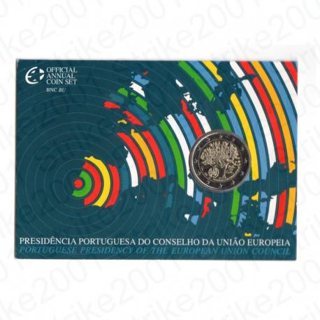 Portogallo - 2€ Comm. 2007 in Folder Presidenza Europea FDC